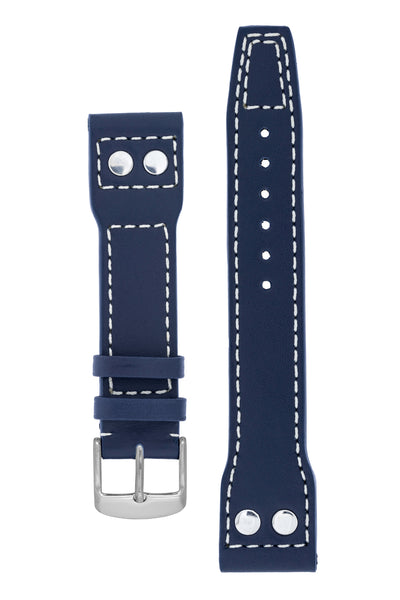 IWC-Style Aviation Calf Leather Watch Strap in BLUE