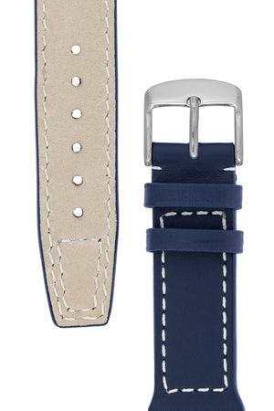 IWC Aviation Style Calf Leather Watch Strap in BLUE