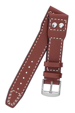 IWC-Style Aviation Calf Leather Watch Strap in TAN
