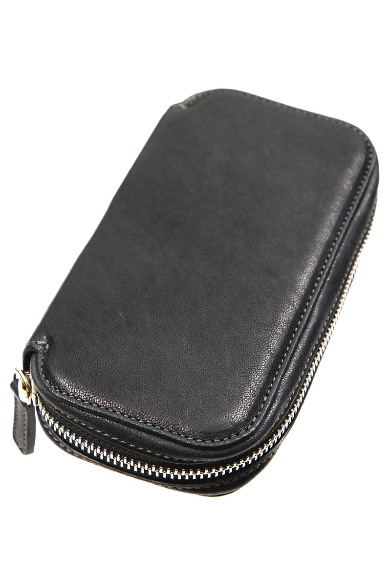JPM 2-Watch Leather Travel Storage Case in BLACK