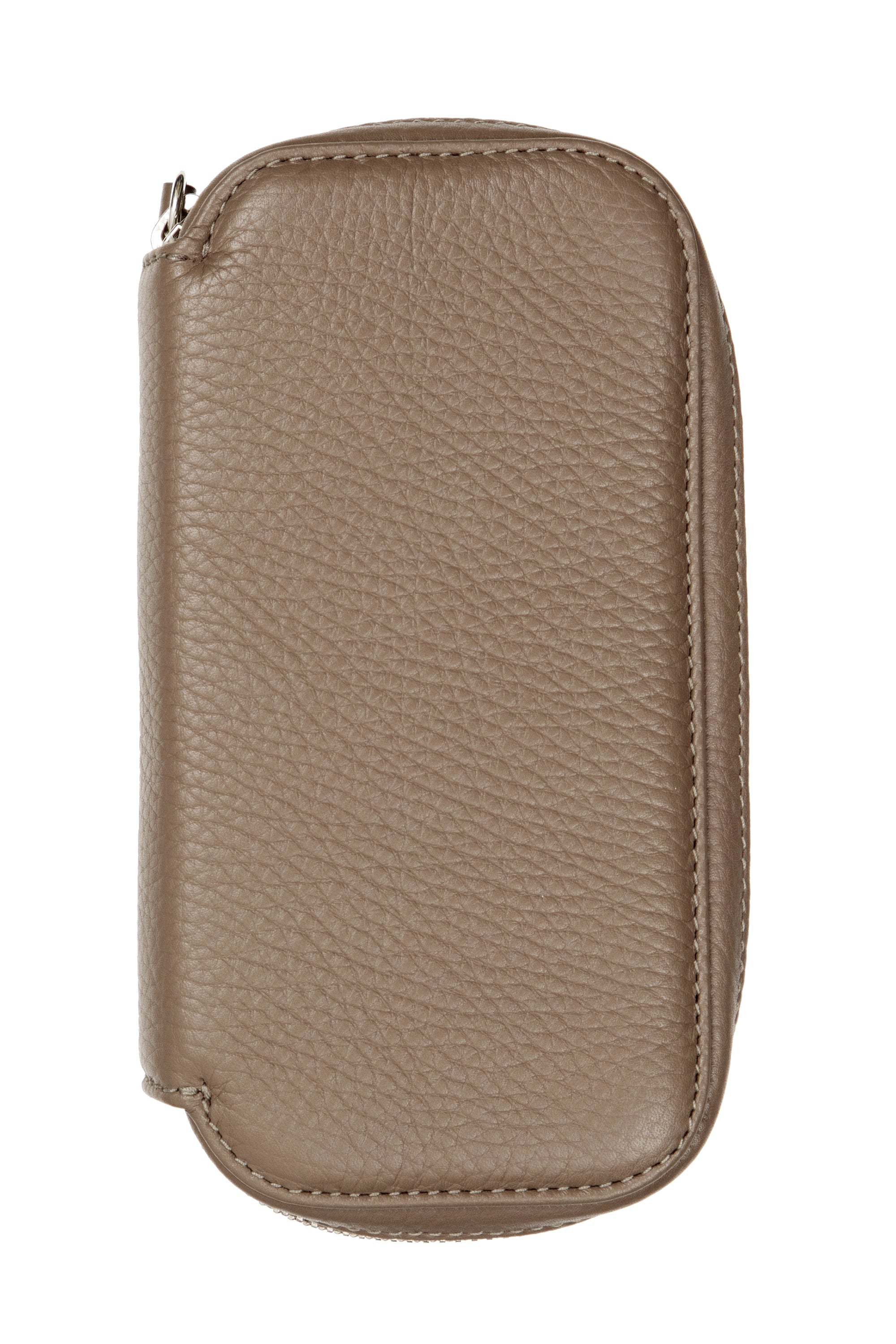 JPM 2-Watch Leather Travel Storage Case in TAUPE