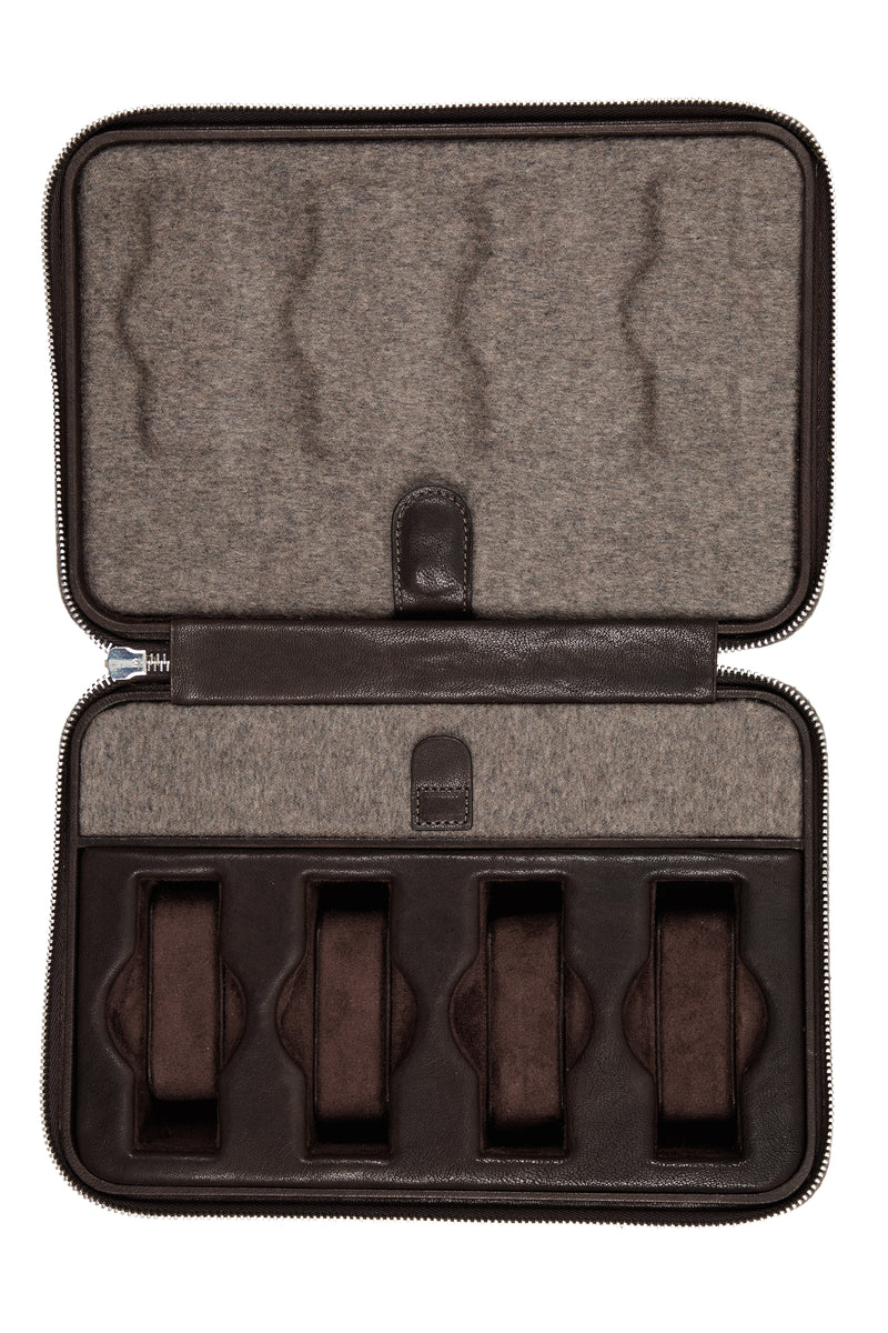 JPM 8-Watch Cashmere Travel Storage Case in MOLE GREY