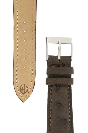 Load image into Gallery viewer, JPM Ostrich Leather Watch Strap in BROWN