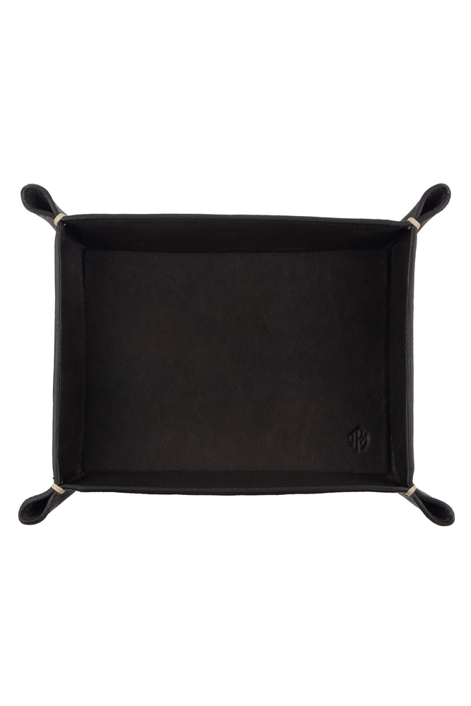 JPM Small Leather Valet Tray in BROWN