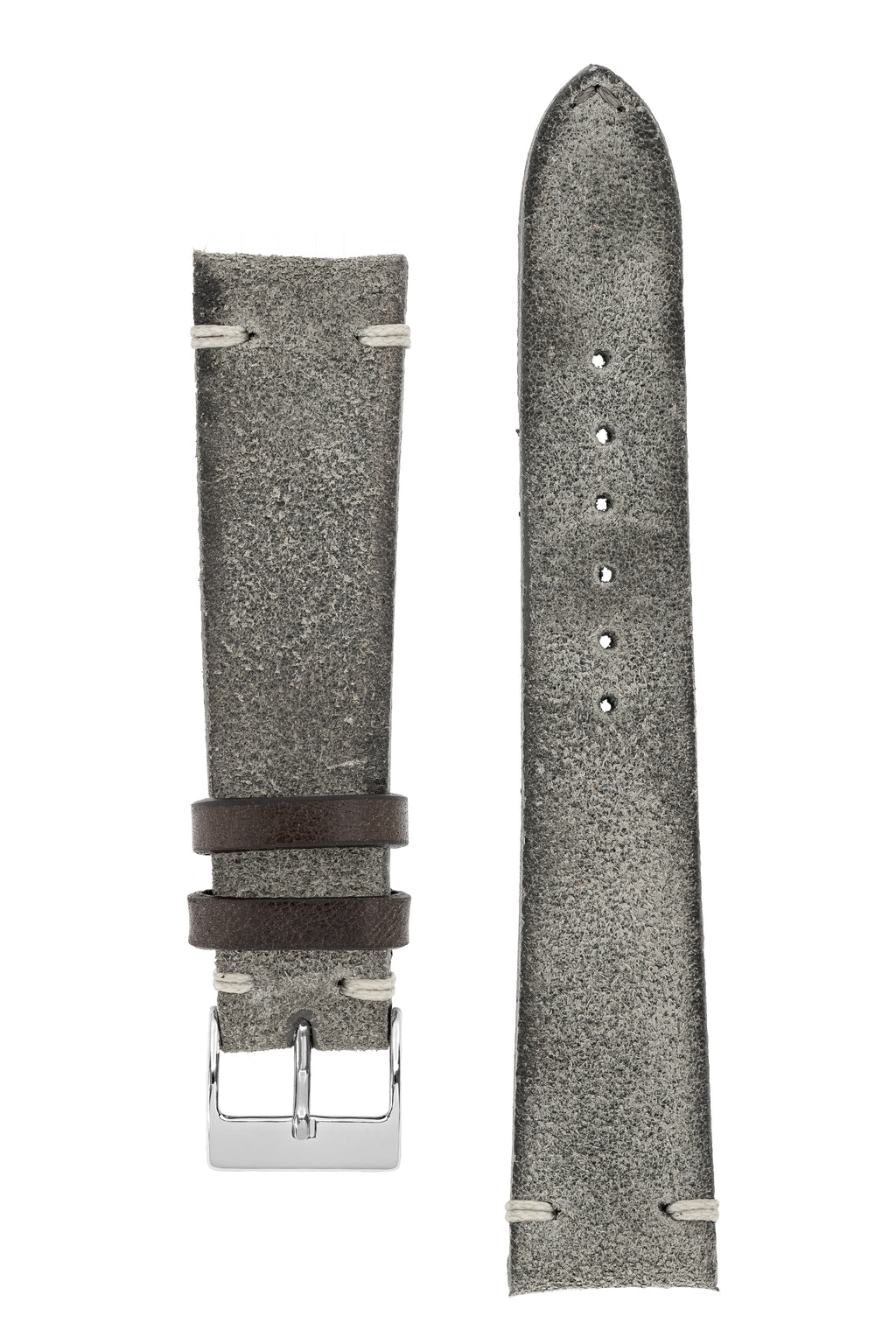 JPM Italian Distressed Tasso Leather Watch Strap in GREY – KickToc Edition