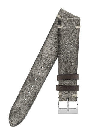 JPM Italian Distressed Tasso Leather Watch Strap in GREY – KickToc Limited Edition