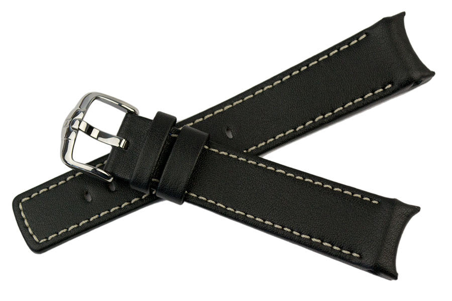 Hirsch Leonardo Heavy Calf watch strap and buckle
