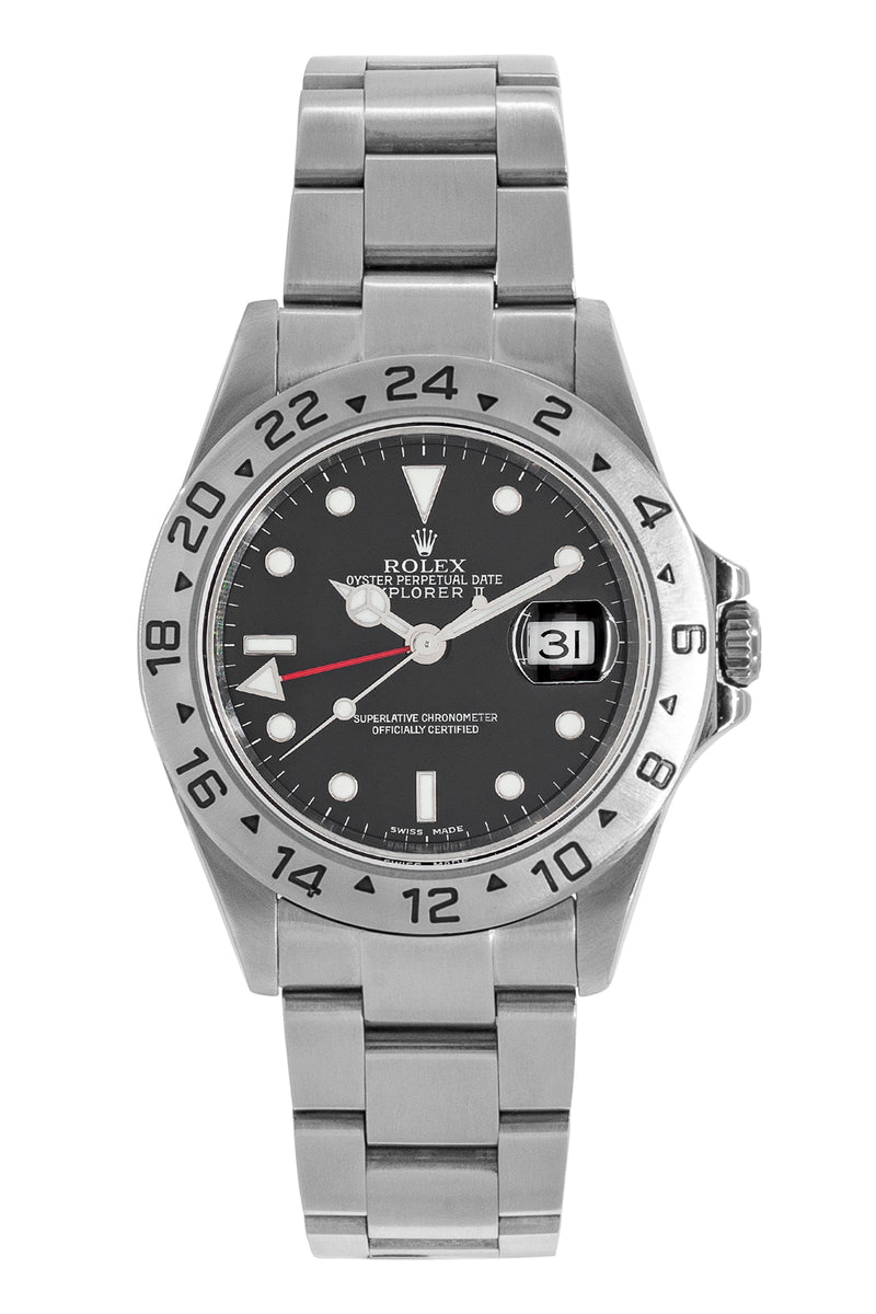 ROLEX Explorer II 16570 40mm Stainless Steel Watch – Black Dial
