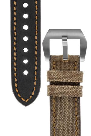 Load image into Gallery viewer, Rios1931 MARYLAND Genuine Vintage Canvas Watch Strap in COGNAC