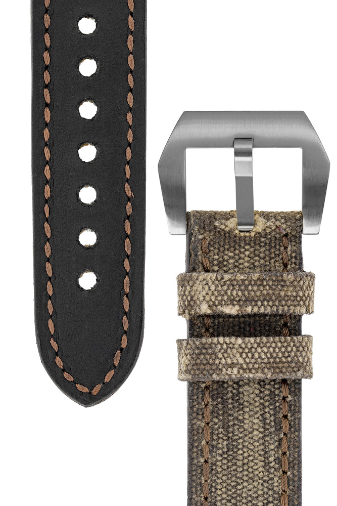 Load image into Gallery viewer, Rios1931 MARYLAND Genuine Vintage Canvas Watch Strap in MOCHA