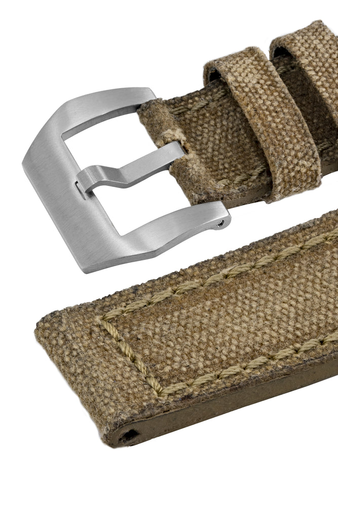 Load image into Gallery viewer, Rios1931 MARYLAND Genuine Vintage Canvas Watch Strap in HONEY