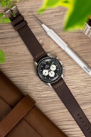 Load image into Gallery viewer, Morellato BRAMANTE Vintage Calfskin Leather Watch Strap in BROWN