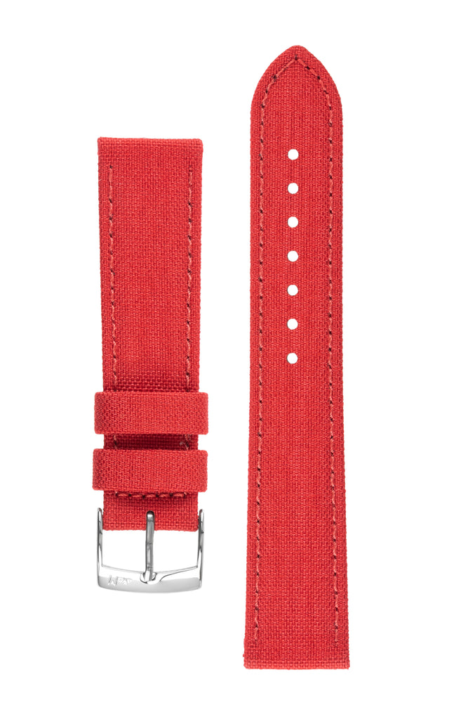Morellato CORDURA 2 Water-Resistant Fabric Watch Strap in RED