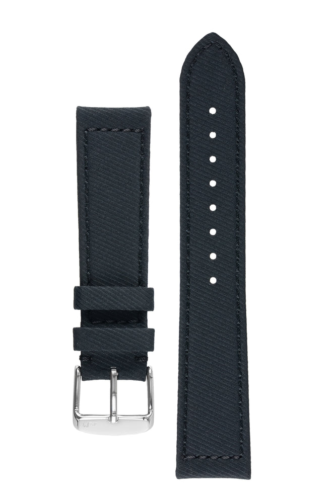Morellato CORFÙ Recycled Gabardine Fabric Watch Strap in BLACK