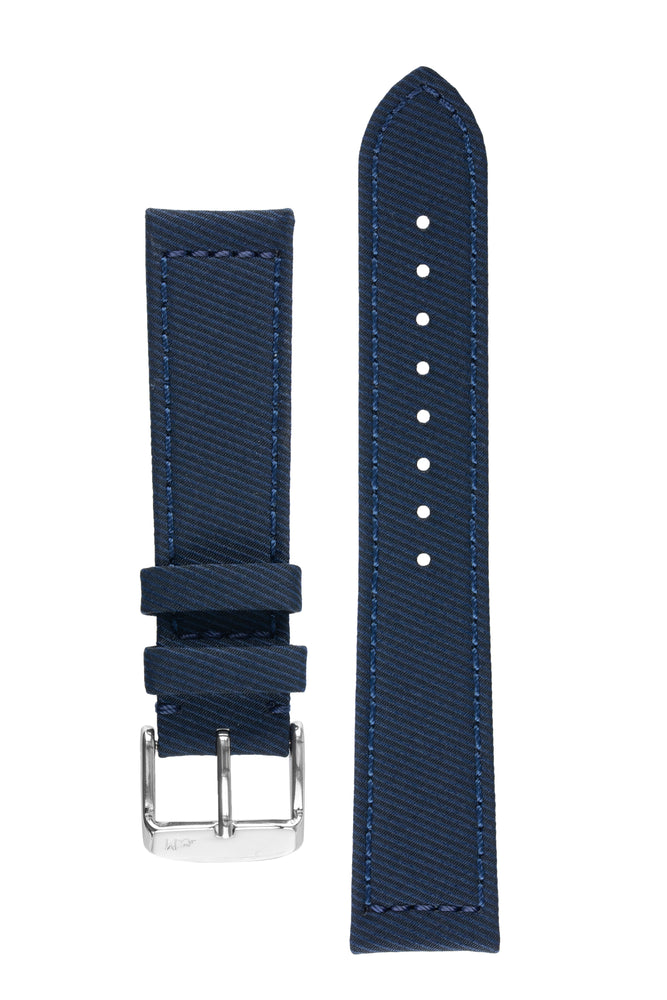 Morellato CORFÙ Recycled Gabardine Fabric Watch Strap in BLUE