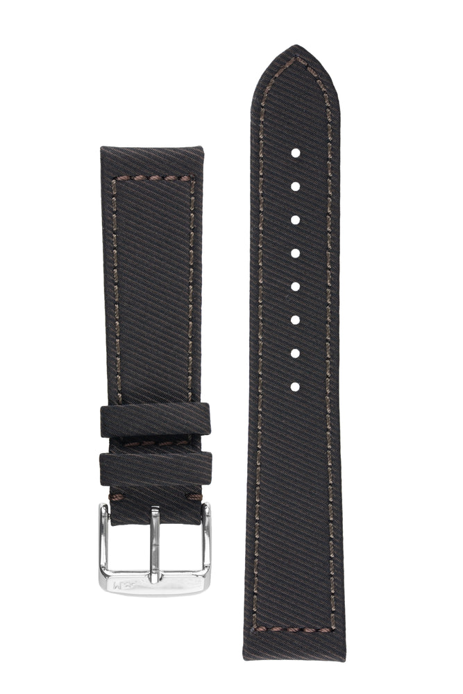 Morellato CORFÙ Recycled Gabardine Fabric Watch Strap in BROWN