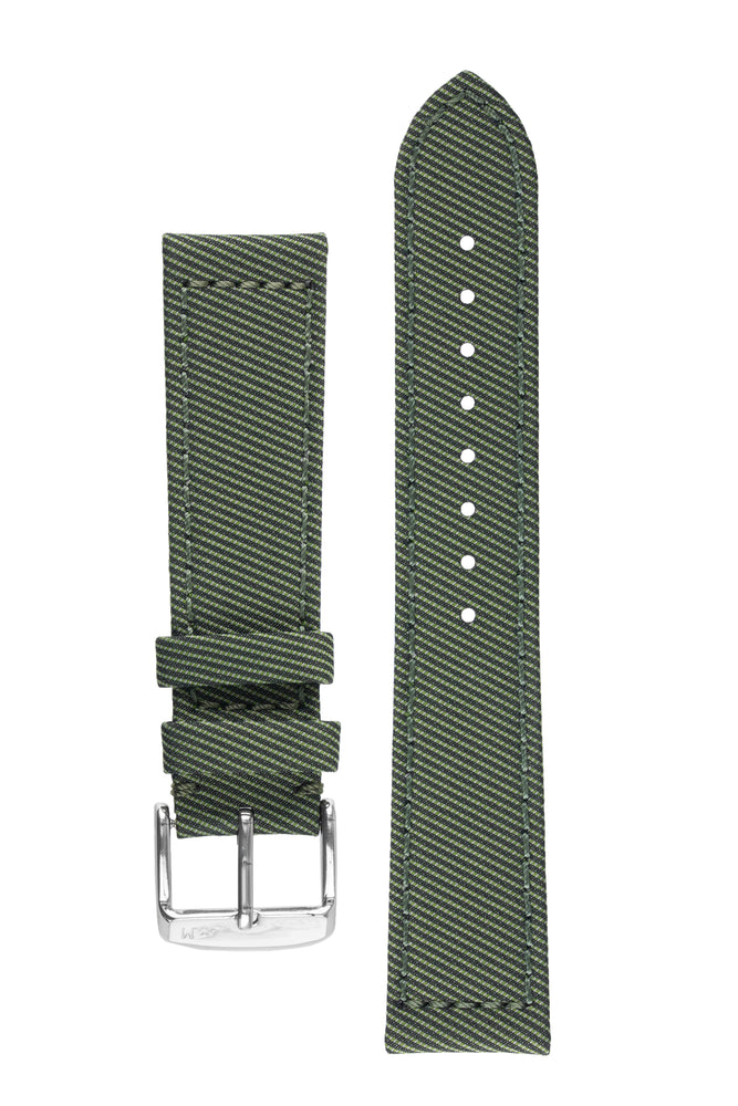 Morellato CORFÙ Recycled Gabardine Fabric Watch Strap in GREEN