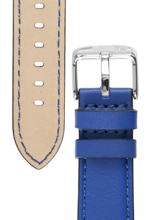 Morellato CROQUET Quick-Release Leather Watch Strap in BLUE
