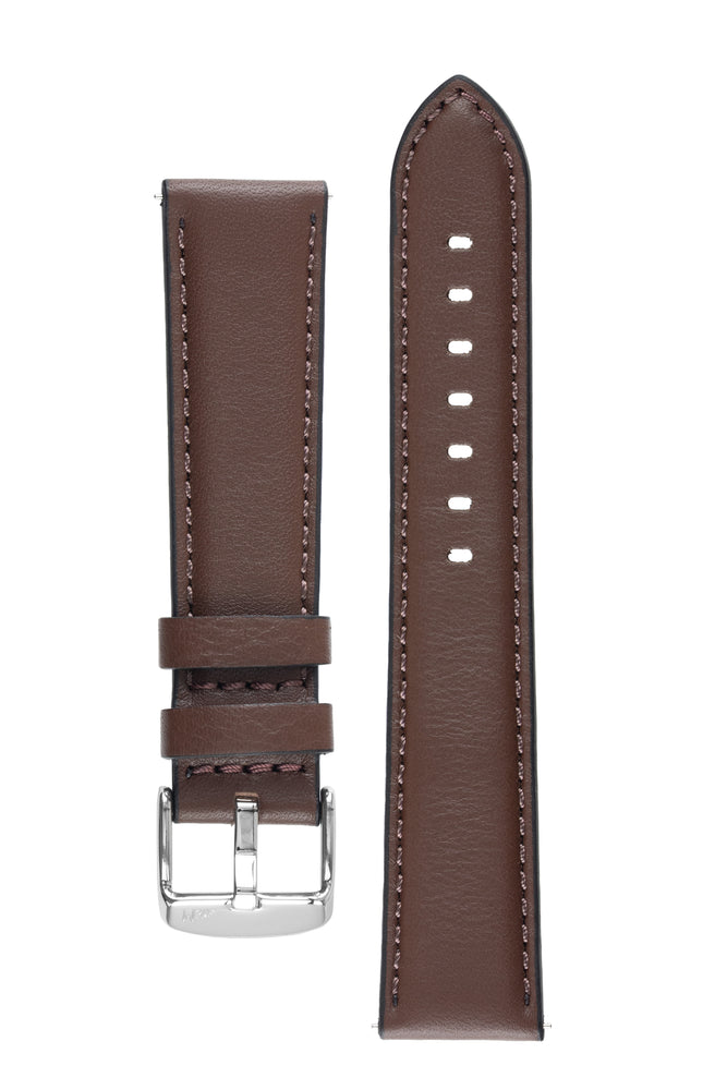 Morellato CROQUET Quick-Release Leather Watch Strap in BROWN