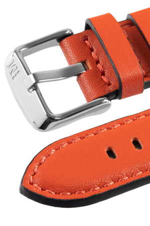Morellato CROQUET Quick-Release Leather Watch Strap in ORANGE