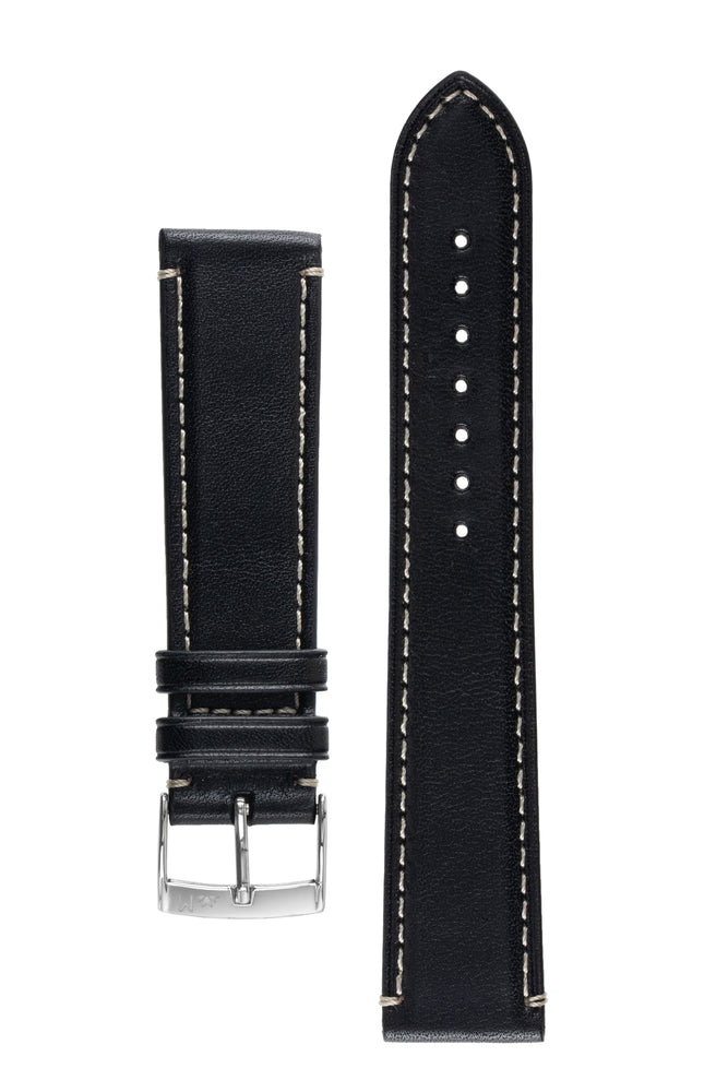 Morellato GAUDÌ Calfskin Leather Watch Strap in BLACK
