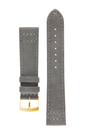 Load image into Gallery viewer, Morellato GINEPRO Buffalo-Grain Vegan Leather Watch Strap in DARK GREY