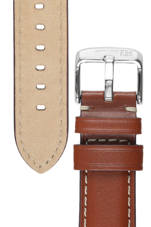 Morellato GIORGIONE Smooth Calfskin Leather Watch Strap in GOLD BROWN