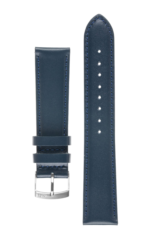 Morellato GRAFIC Calfskin Leather Performance Watch Strap in BLUE