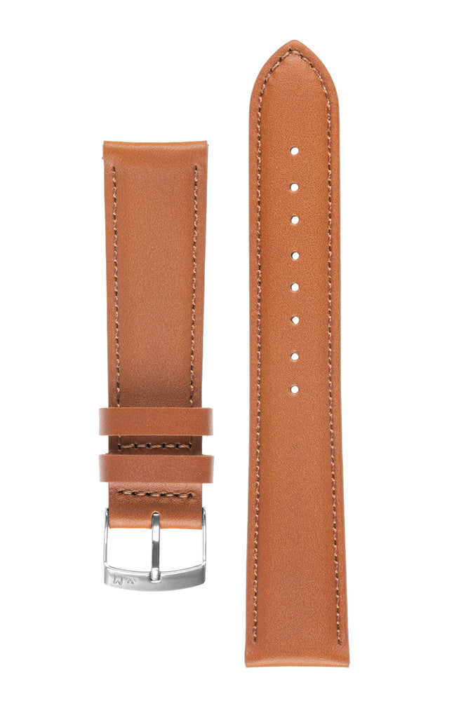 Morellato GRAFIC Calfskin Leather Performance Watch Strap in GOLD BROWN