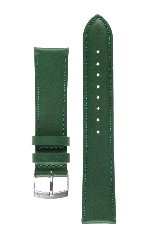 Morellato GRAFIC Calfskin Leather Performance Watch Strap in GREEN