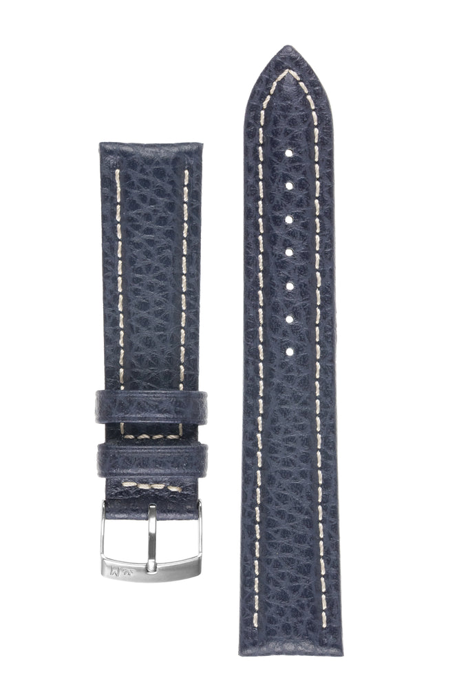 Morellato KUGA Padded Calfskin Leather Watch Strap in BLUE