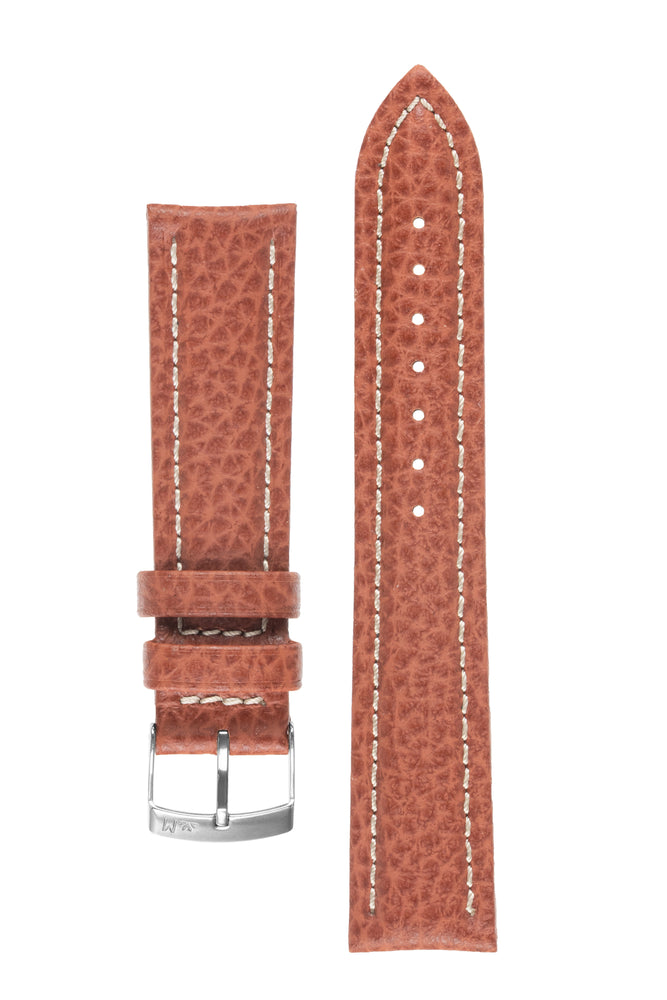 Morellato KUGA Padded Calfskin Leather Watch Strap in GOLD BROWN