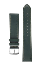 Morellato LAURO Goatskin-Grain Vegan Leather Watch Strap in DARK GREEN