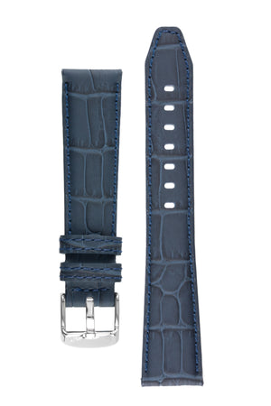 Morellato SOCCER Alligator-Embossed Calfskin Leather Watch Strap in BLUE
