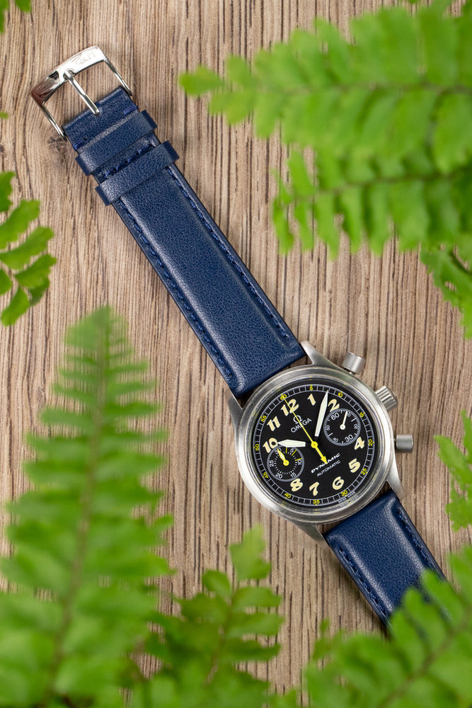 Morellato NAXOS Recycled Leather-Fibre Watch Strap in BLUE