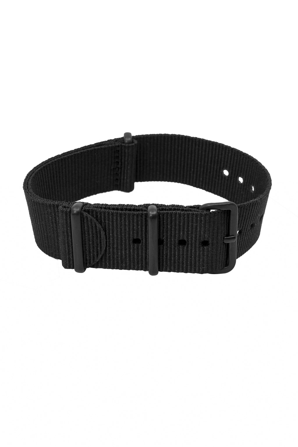 Nato Watch Straps in BLACK with PVD Buckle and Keepers