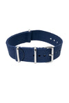 NATO Watch Straps in BLUE with Polished Buckle and Keepers