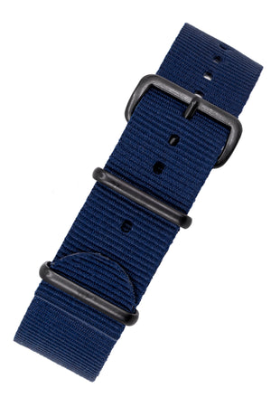 NATO Watch Strap in BLUE with PVD Buckle and Keepers