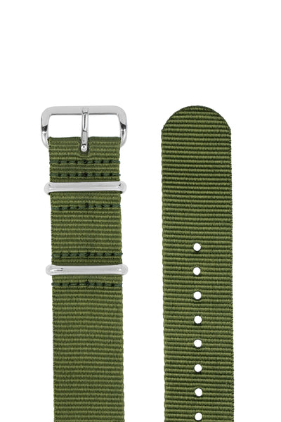 NATO Watch Strap in GREEN with Polished Buckle and Keepers
