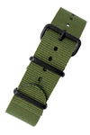 NATO Watch Strap in GREEN with PVD Buckle and Keepers
