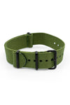 Nato Watch Straps in GREEN with PVD Buckle and Keepers