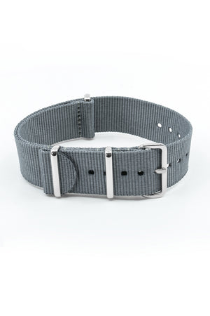 NATO Watch Straps in GREY with Polished Buckle and Keepers