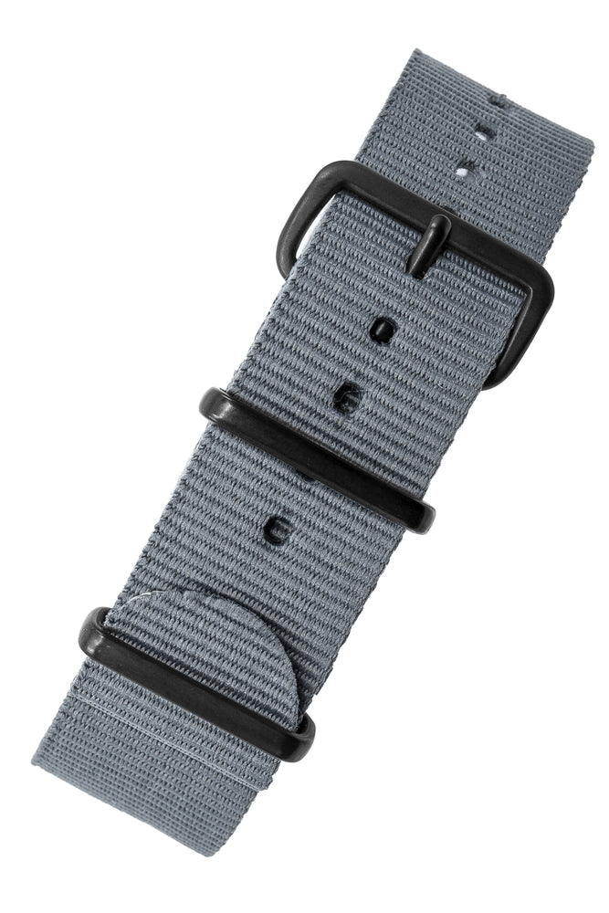 NATO Watch Strap in GREY with PVD Buckle and Keepers