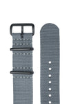 NATO Watch Straps in GREY with PVD Buckle and Keepers