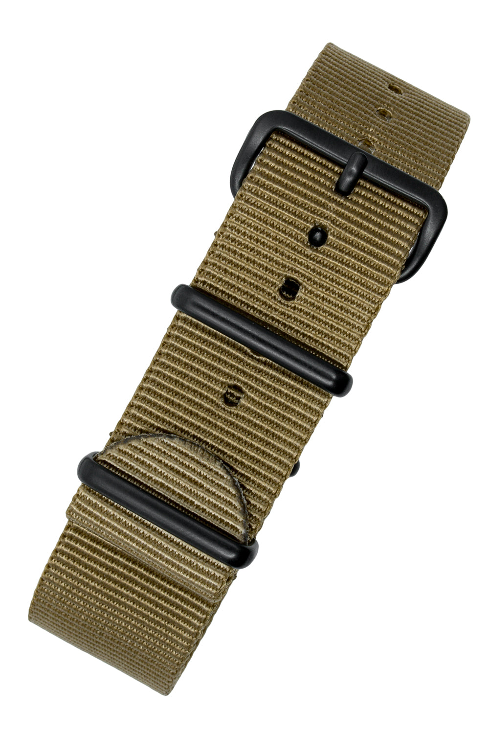 Nato Watch Straps in KHAKI with PVD Buckle and Keepers