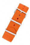 NATO Watch Strap in ORANGE with Polished Buckle and Keepers