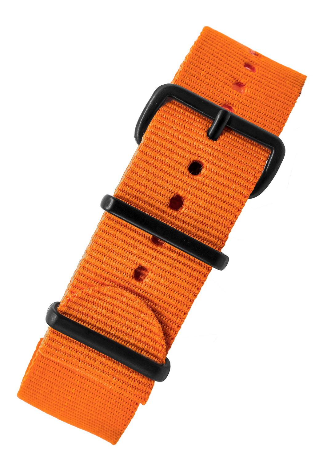 Nato Watch Straps in ORANGE with PVD Buckle and Keepers