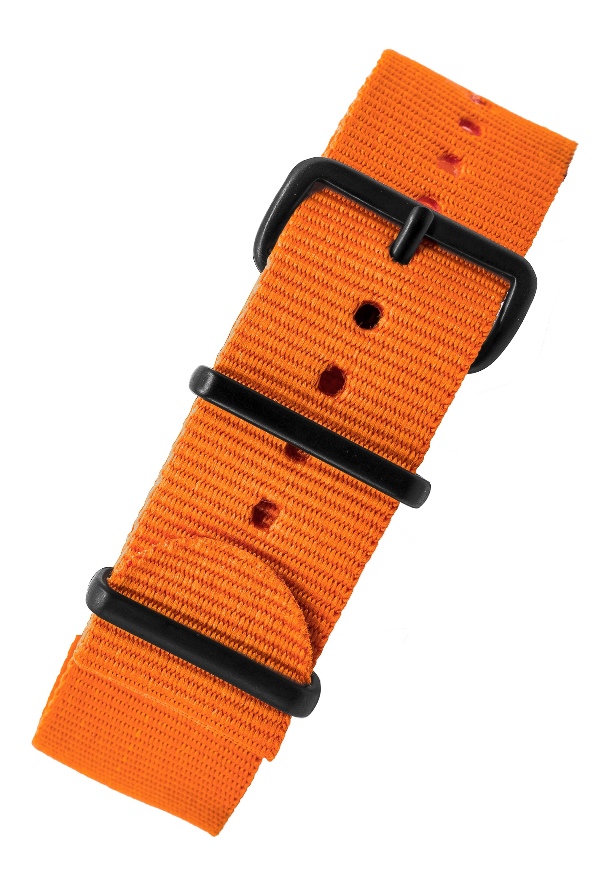 NATO Watch Strap in ORANGE with PVD Buckle and Keepers
