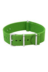 NATO Watch Straps in BRIGHT GREEN with Polished Buckle and Keepers