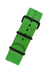 NATO Watch Strap in BRIGHT GREEN with PVD Buckle and Keepers